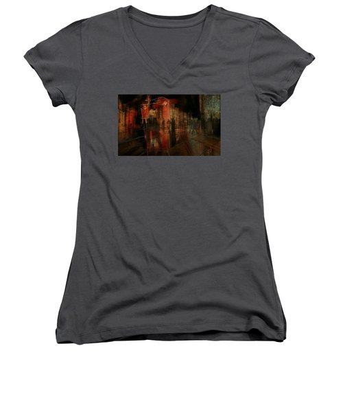 Passers In The Night Women's V-Neck T-Shirt