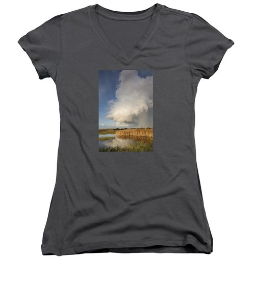 Passing Late Afternoon Rain Shower Women's V-Neck T-Shirt