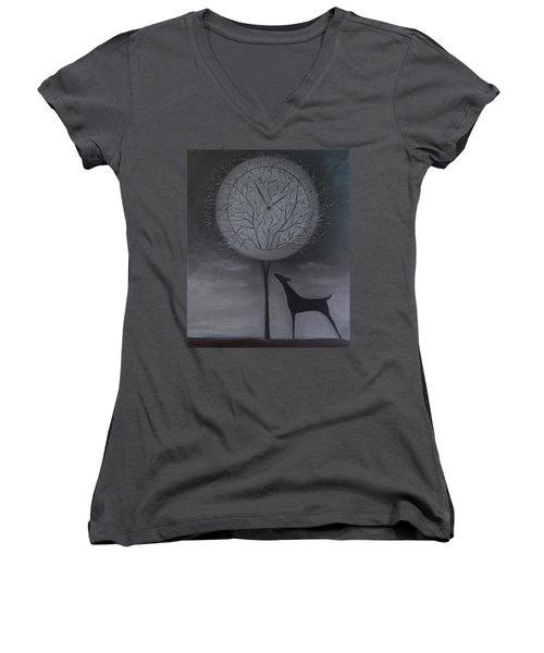 Passing Time Women's V-Neck T-Shirt (Junior Cut) by Tone Aanderaa