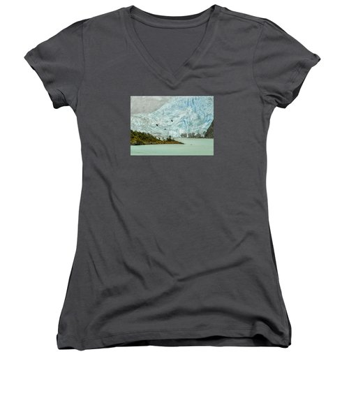 Patagonia Glacier Women's V-Neck T-Shirt (Junior Cut) by Alan Toepfer