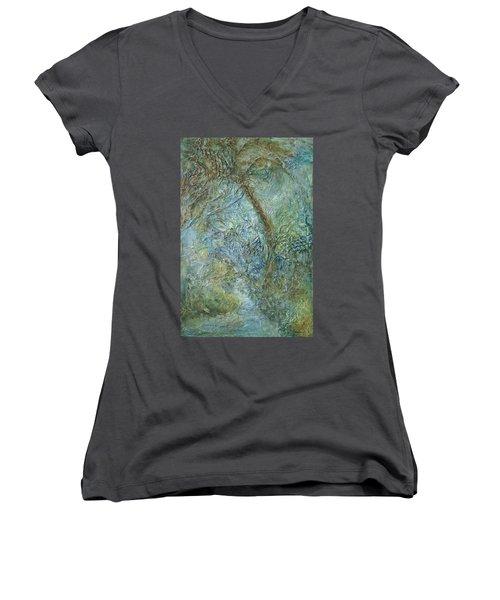 Path Of Invitation Women's V-Neck T-Shirt (Junior Cut) by Roberta Rotunda