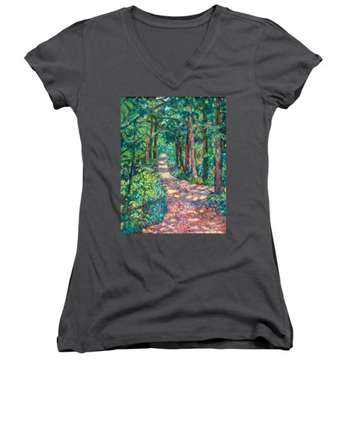 Path On Sharp Top Women's V-Neck