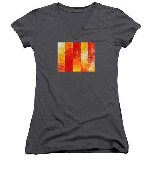 Path Women's V-Neck T-Shirt (Junior Cut) by Teresa Wegrzyn
