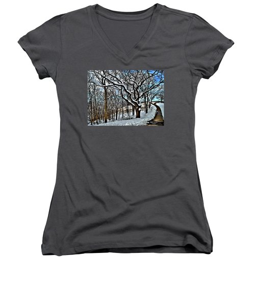 Path To The Lookout Women's V-Neck (Athletic Fit)