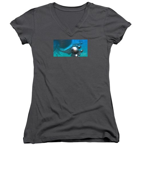 Paths Between Planets Women's V-Neck (Athletic Fit)