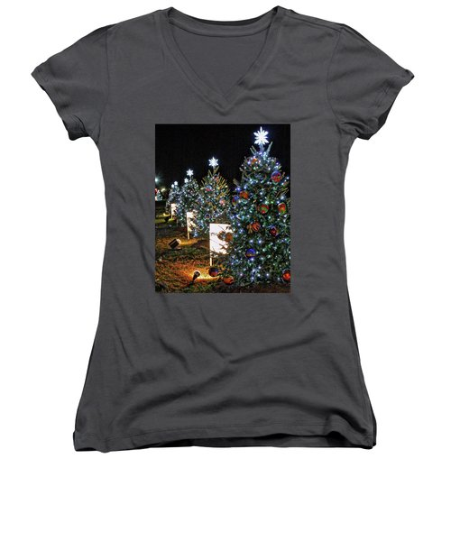 Women's V-Neck T-Shirt (Junior Cut) featuring the photograph Pathway Of Peace by Suzanne Stout