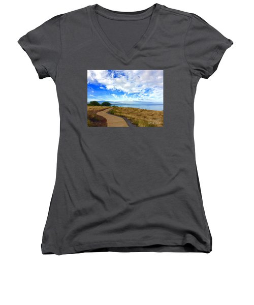 Pathway To Heaven Women's V-Neck (Athletic Fit)