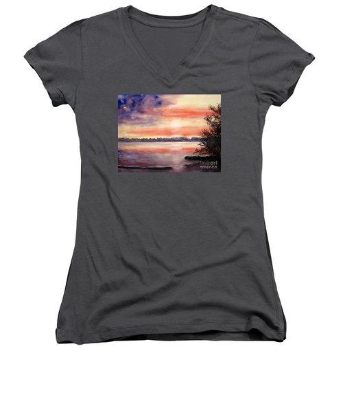 Patriotic Windjammer Sky Women's V-Neck T-Shirt