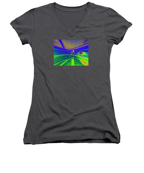 Pattern 293 _ Be Active Women's V-Neck T-Shirt