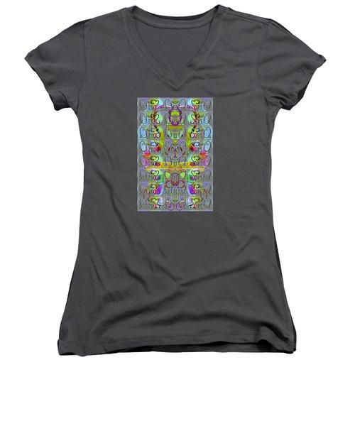 Pattern 296 _ Start From Zeros Women's V-Neck T-Shirt