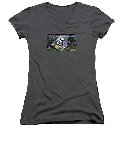 Pattern 301 _ Remarkable Moment Women's V-Neck T-Shirt