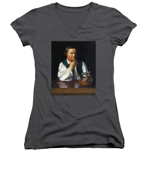 Paul Revere 1770 Women's V-Neck (Athletic Fit)
