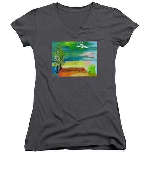 Pause Women's V-Neck (Athletic Fit)