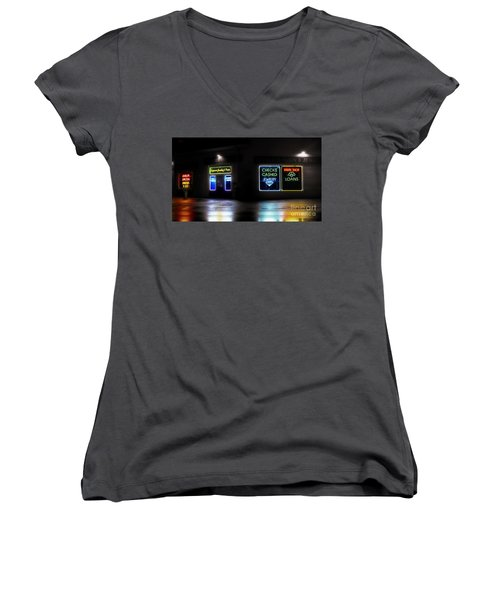 Women's V-Neck T-Shirt (Junior Cut) featuring the photograph Pawn by Raymond Earley