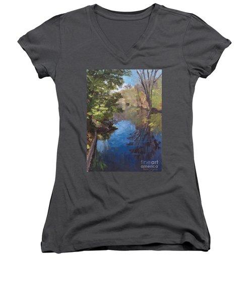 Pawtucket Canal Women's V-Neck T-Shirt