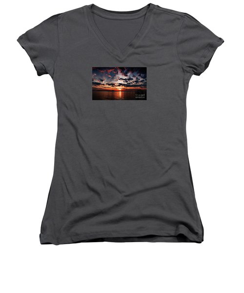 Peace Along The River Women's V-Neck (Athletic Fit)