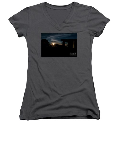 Peaceful Moment II Women's V-Neck T-Shirt (Junior Cut)