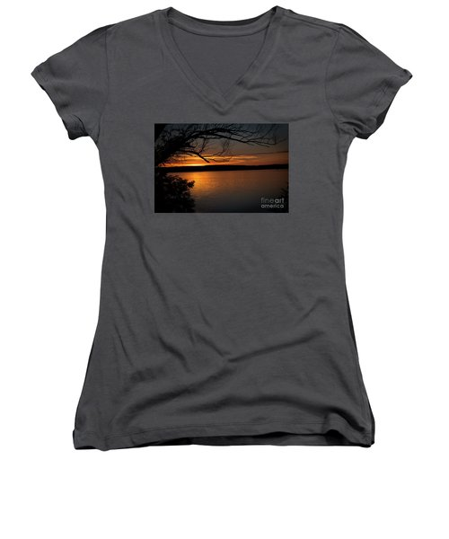 Peaceful Nights Women's V-Neck T-Shirt (Junior Cut)
