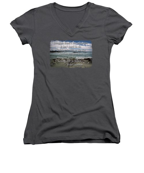 Peaceful Pacific Beach Women's V-Neck