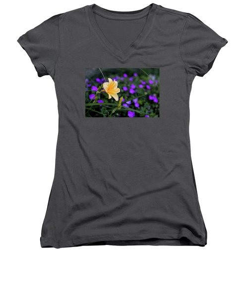 Peachy Purple Women's V-Neck