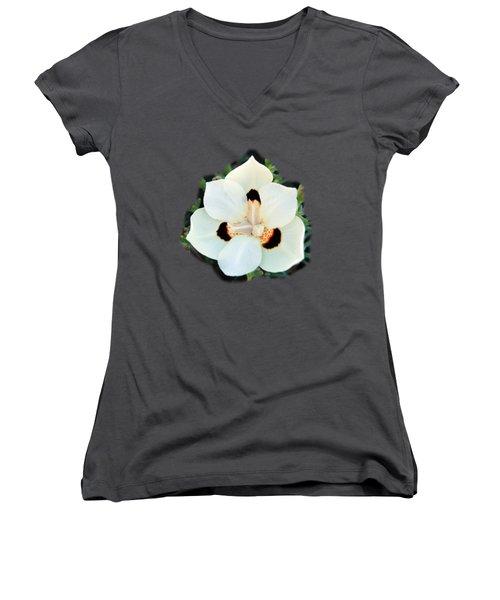 Peacock Flower T-shirt Women's V-Neck (Athletic Fit)