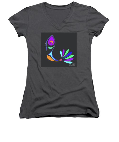Peacock Impressions Women's V-Neck (Athletic Fit)