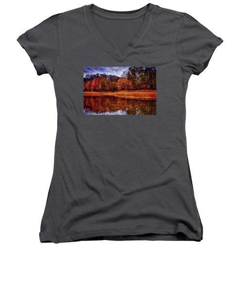 Peak? Nope, Not Yet Women's V-Neck T-Shirt (Junior Cut) by Edward Kreis
