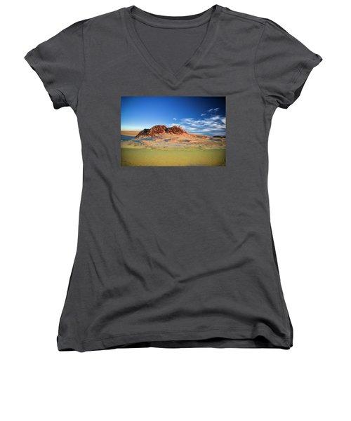 Peaks Of Jockey's Ridge Women's V-Neck T-Shirt (Junior Cut)
