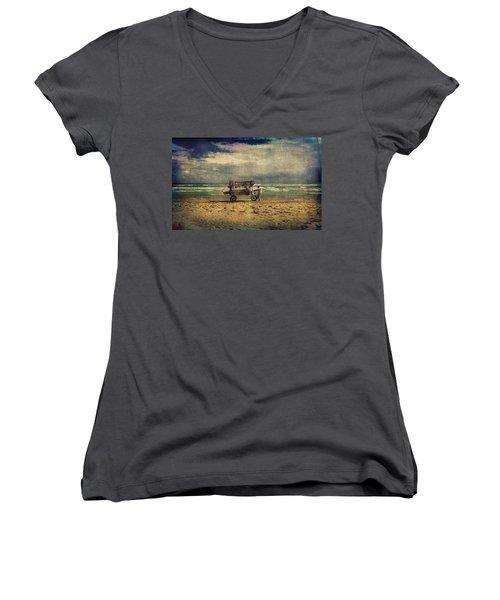 Peddler Women's V-Neck T-Shirt (Junior Cut) by Vittorio Chiampan