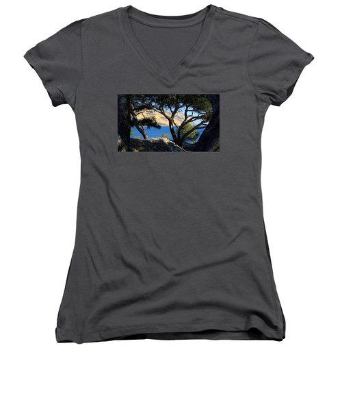 Peeping Through Pines Women's V-Neck