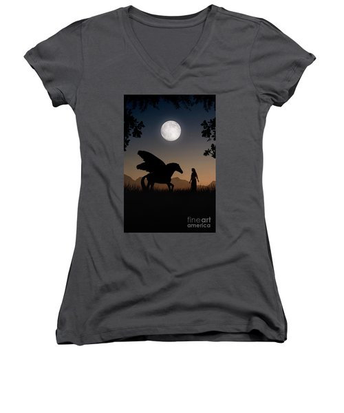 Pegasus Women's V-Neck