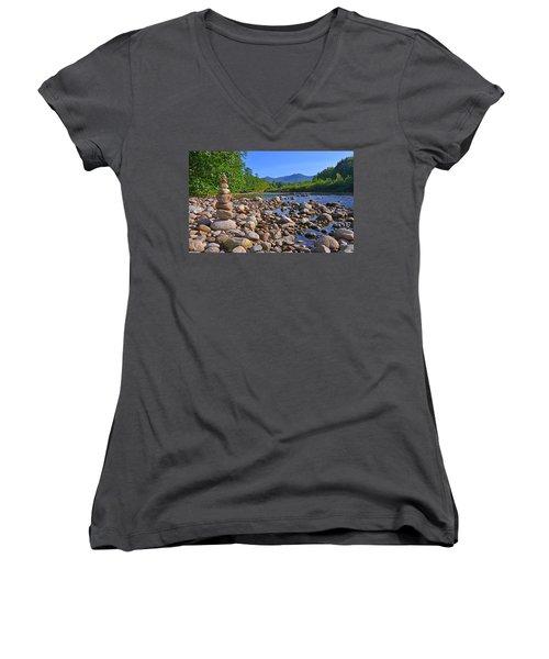 Pemigewasset River, North Woodstock Nh Women's V-Neck