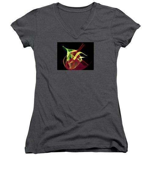 Penman Original-266- Chikakos Dinner Women's V-Neck T-Shirt (Junior Cut) by Andrew Penman