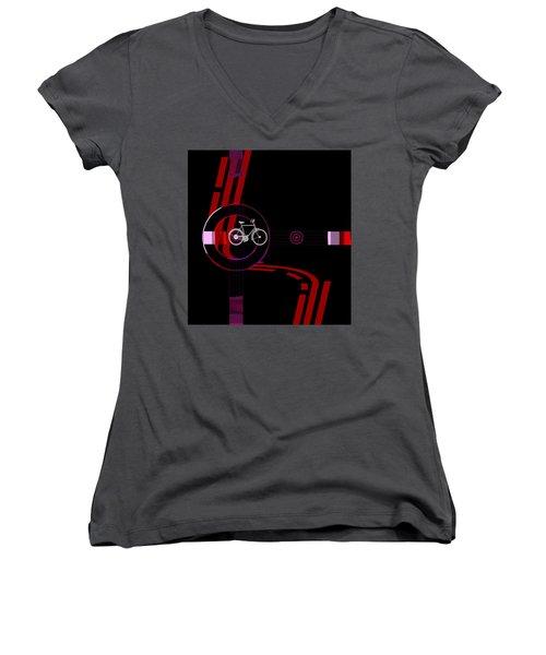 Penman Original-476a Women's V-Neck T-Shirt (Junior Cut) by Andrew Penman