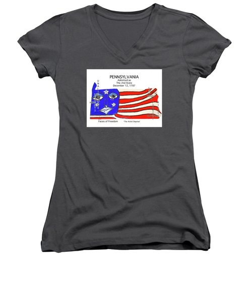 Pennsylvania Women's V-Neck (Athletic Fit)