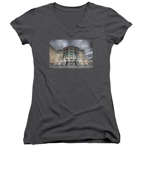 Pennsylvania Judicial Center Women's V-Neck T-Shirt (Junior Cut) by Shelley Neff