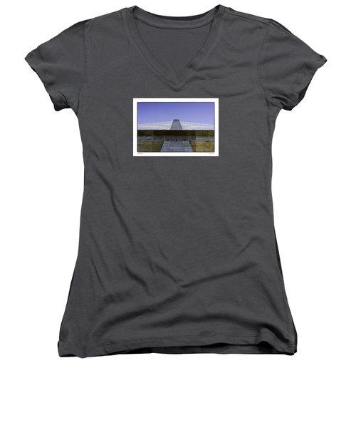 Penobscot Bridge Women's V-Neck T-Shirt