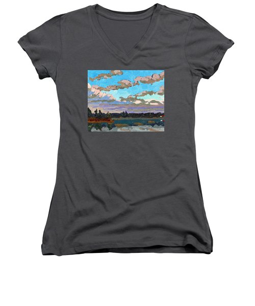 Pensive Clouds Women's V-Neck