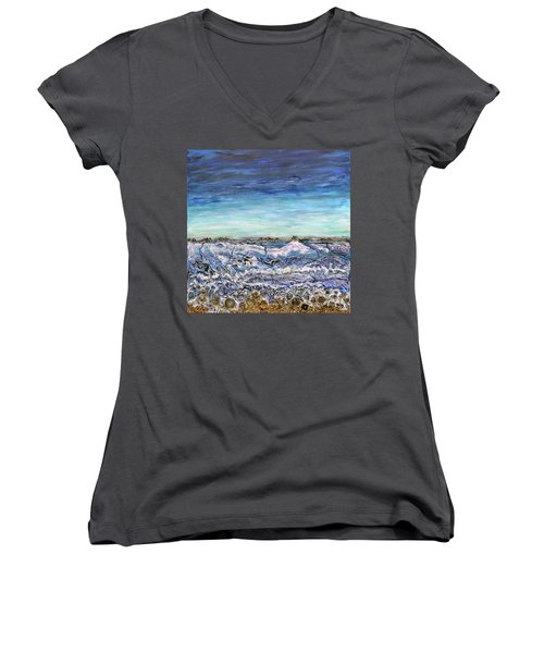 Pensive Waters Women's V-Neck (Athletic Fit)