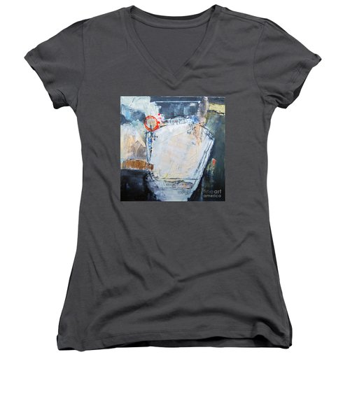 Pentagraphic Women's V-Neck T-Shirt (Junior Cut) by Ron Stephens