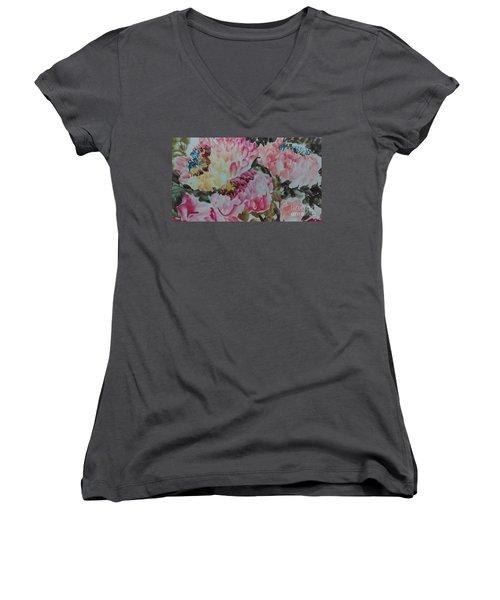 Peoney20161229_9 Women's V-Neck T-Shirt