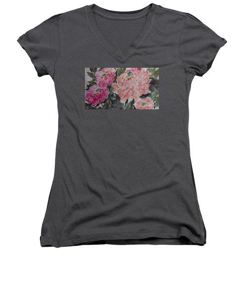 Peoney20161230_622 Women's V-Neck T-Shirt