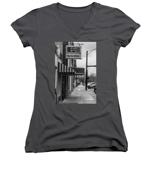 Pepsi The Fountain Sign Women's V-Neck