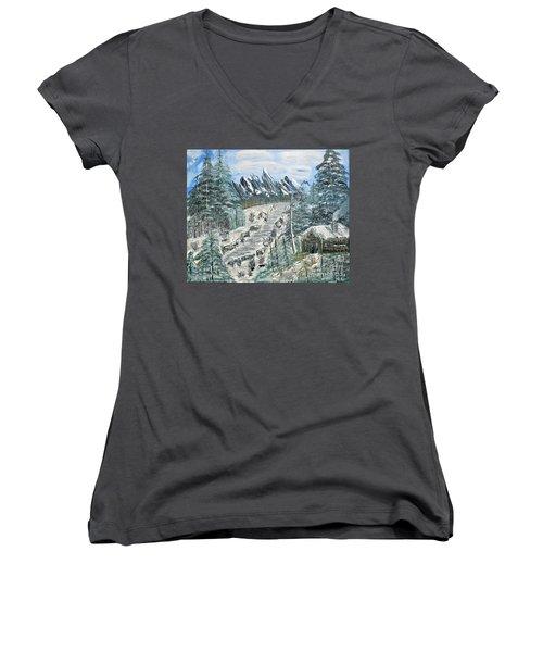 Per Il Mio Figlio Women's V-Neck T-Shirt