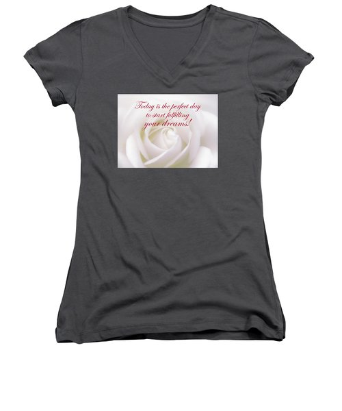 Perfect Day For Fulfilling Your Dreams Women's V-Neck