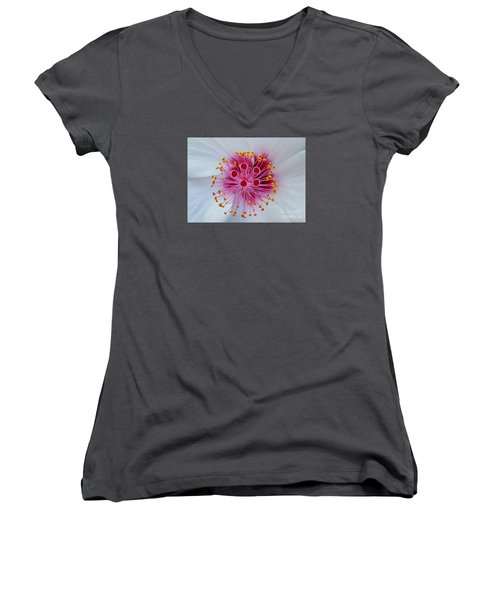 Perfect Flower Pestle Women's V-Neck T-Shirt (Junior Cut) by Jasna Gopic