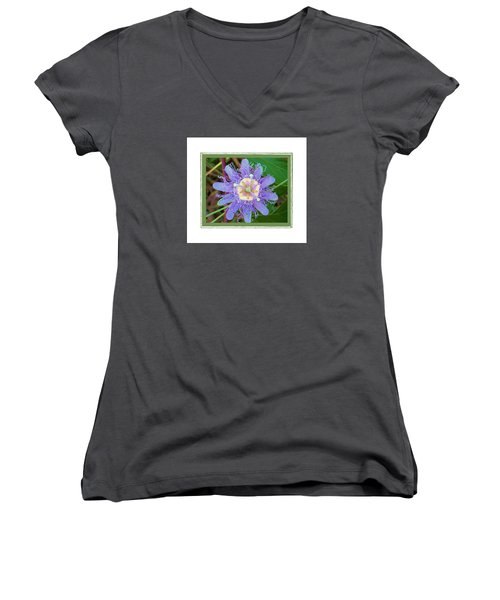 Perfect Passion Flower 2 Women's V-Neck (Athletic Fit)