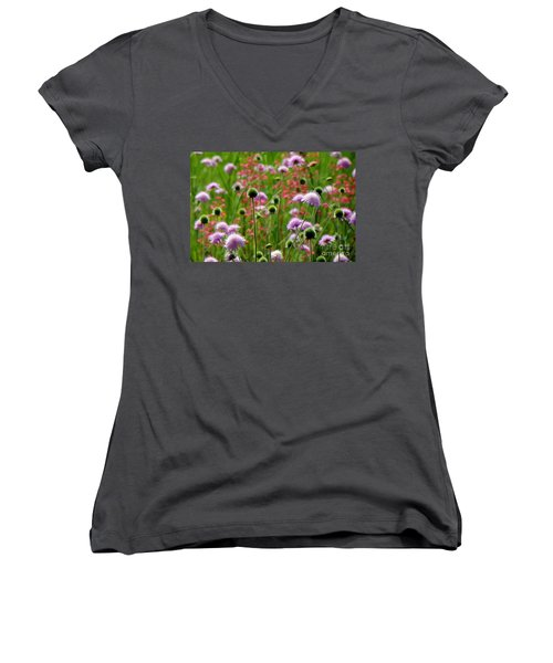 Perky Chives Women's V-Neck (Athletic Fit)