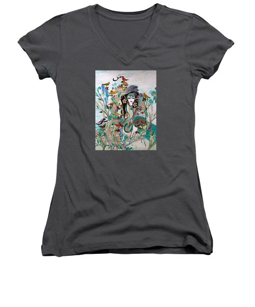 Persian Painting # 2 Women's V-Neck (Athletic Fit)