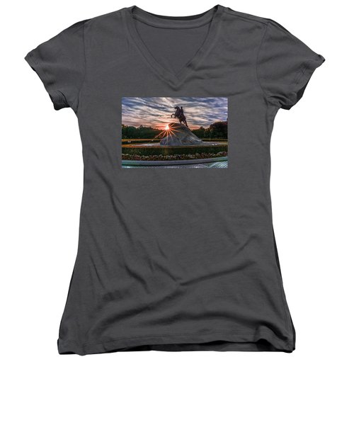 Peter Rides At Dawn Women's V-Neck